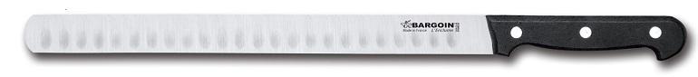 Couteau à jambon 30mm de large alvéolé 4 rivets 28 cm