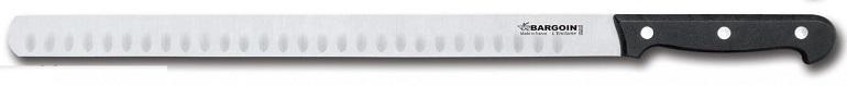 Couteau à jambon 30mm de large alvéolé 4 rivets 33 cm