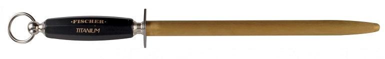 Fusil Ovale 30 cm taillage fin manche plastique soft noir - W5135